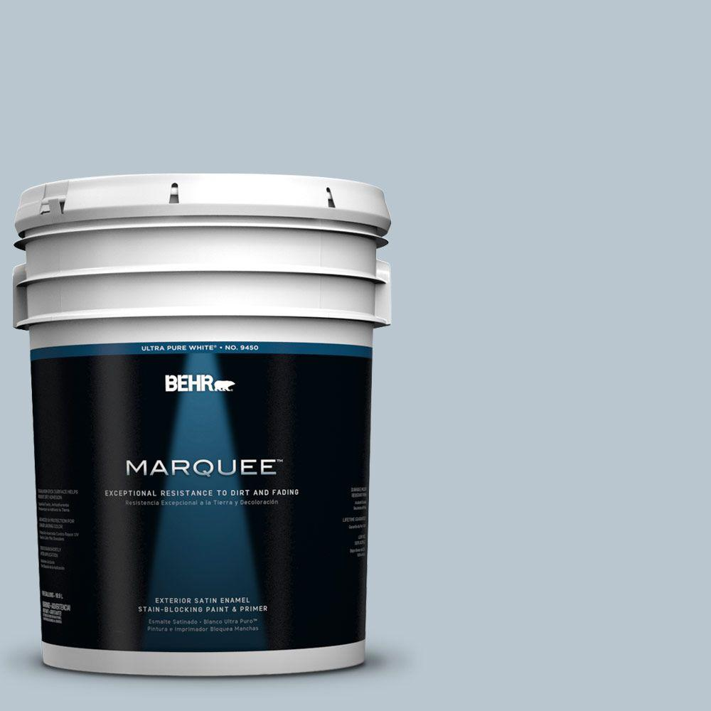 BEHR MARQUEE 5-gal. #560E-3 Silver Strand Satin Enamel Exterior Paint