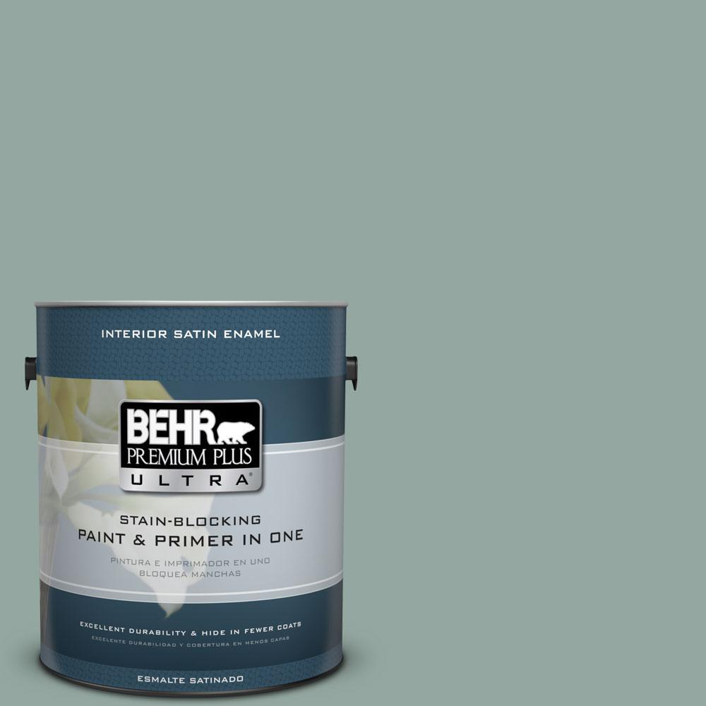 1-Gal. #PPU12-5 Lotus Leaf Satin Enamel Interior Paint