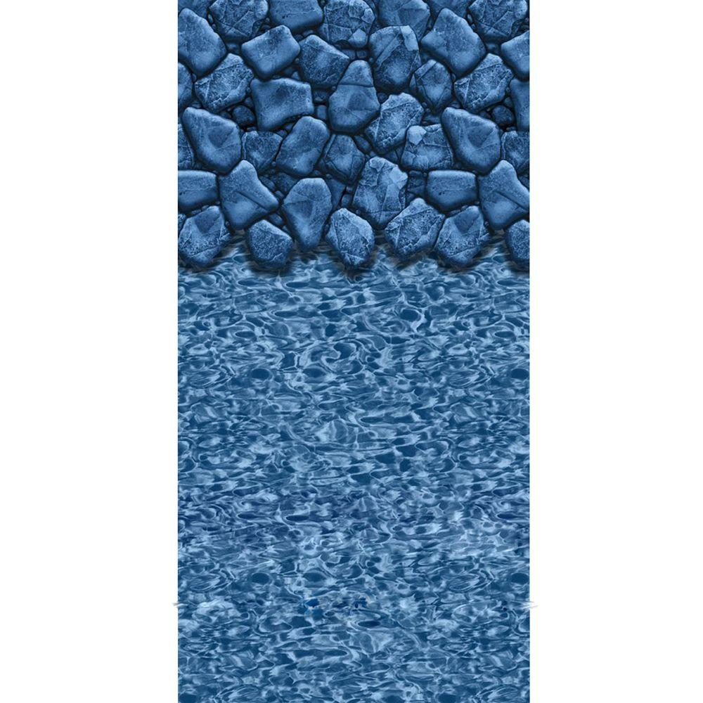 Boulder Swirl 52 in. Deep 21 ft. Round Beaded Pool Liner