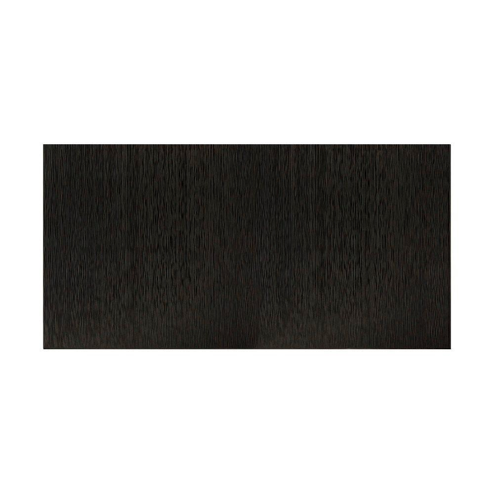 Fasade Ripple Vertical 96 in. x 48 in. Decorative Wall Panel in Black