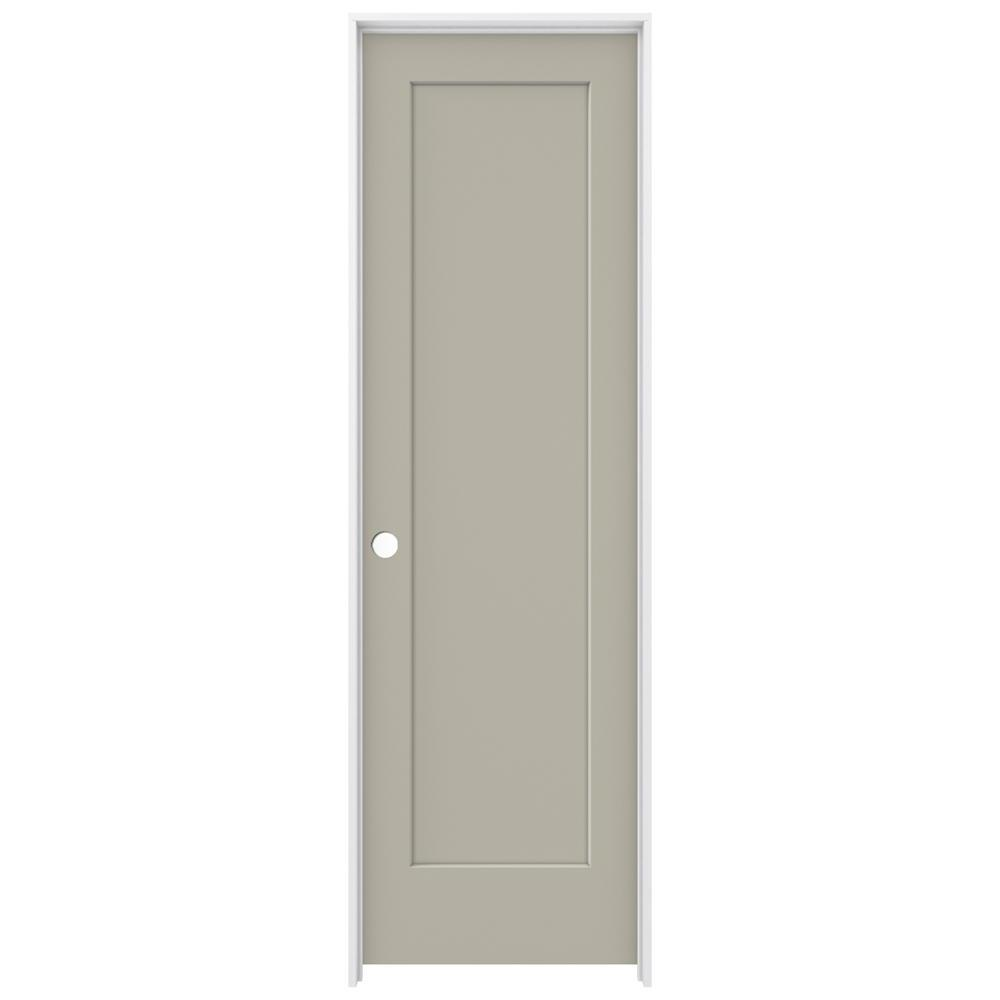 24 in. x 80 in. Madison Desert Sand Right-Hand Smooth Solid