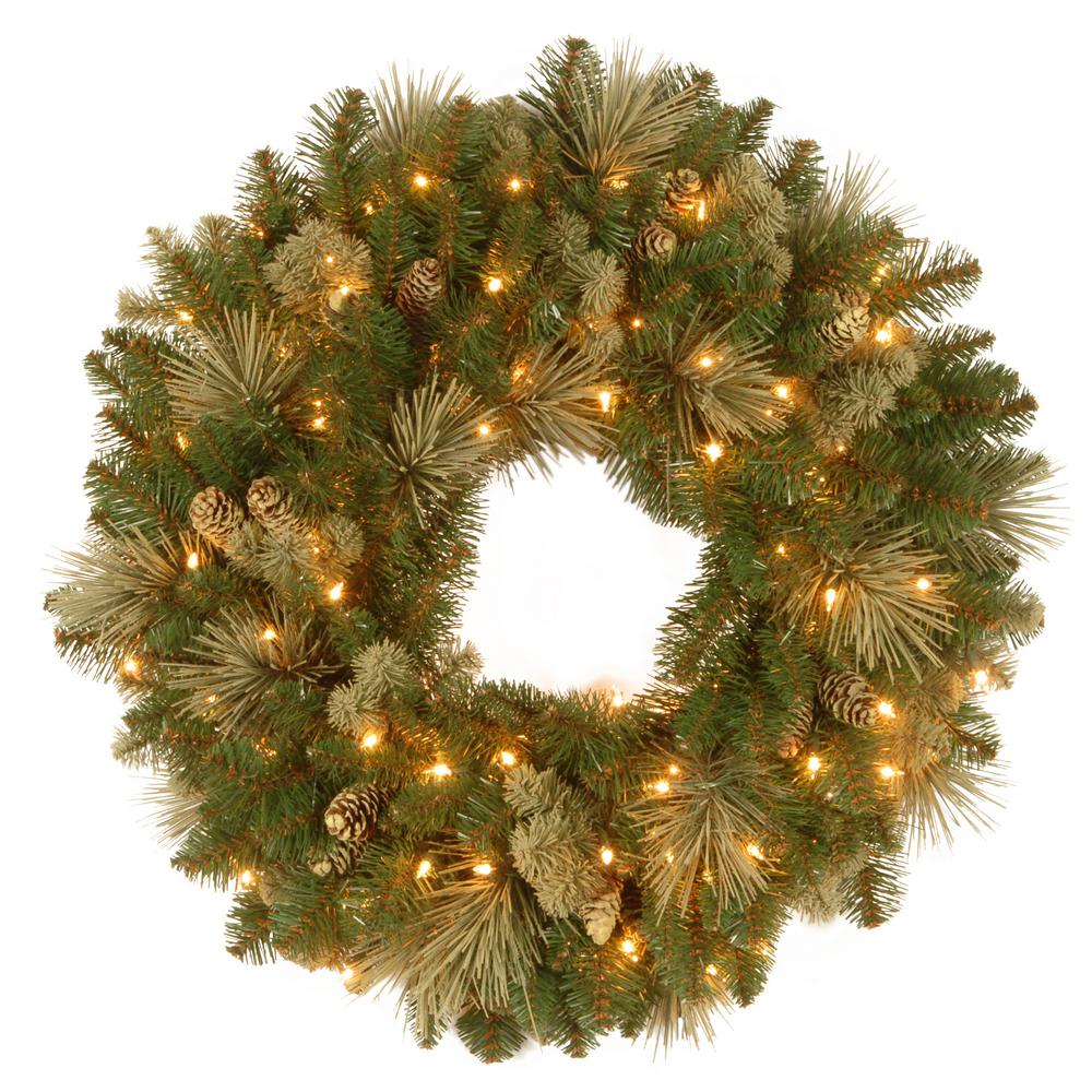 National Tree Carolina Pine 24 in. Artificial Wreath with...