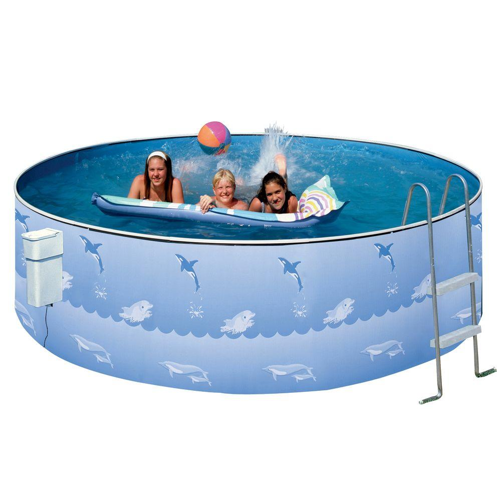 Heritage Pools Aqua Family 12 ft. Round 36 in. Pool Package-AFC
