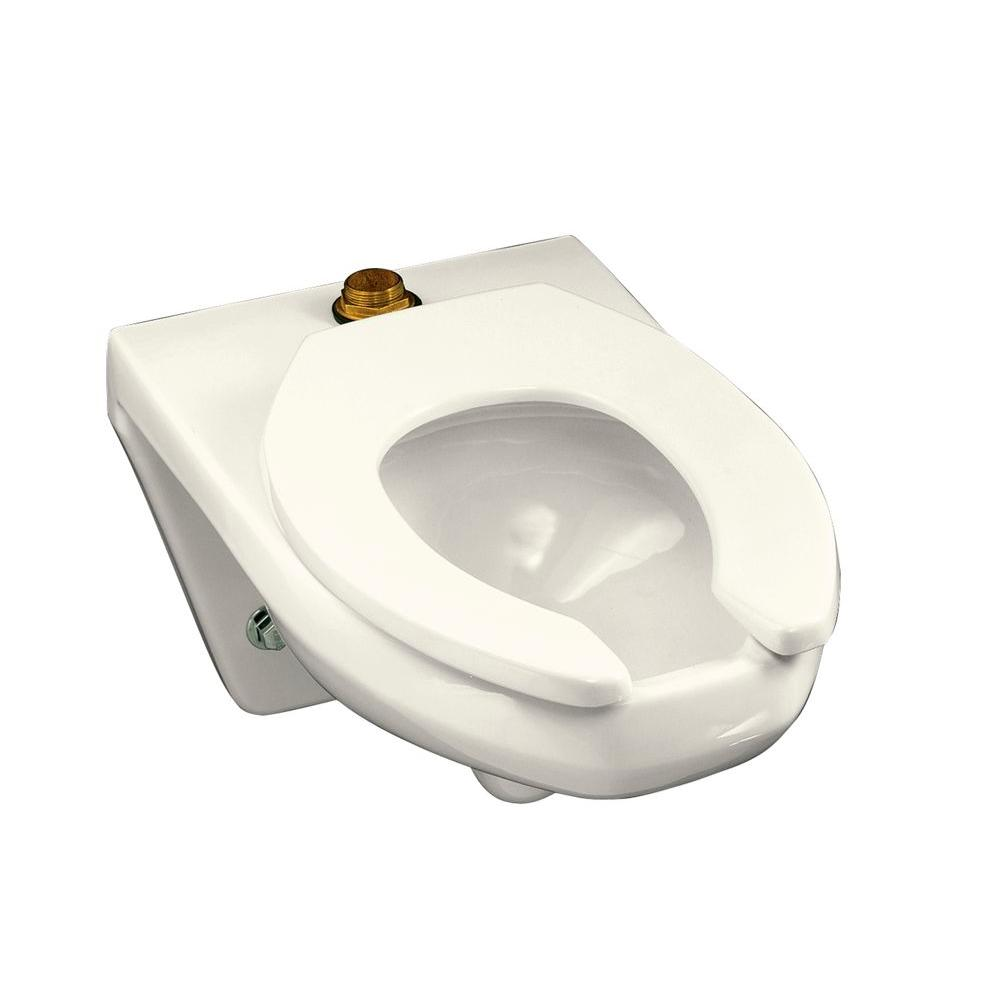 KOHLER Kingston Elongated Wall-Hung Toilet Bowl Only in Biscuit-DISCONTINUED