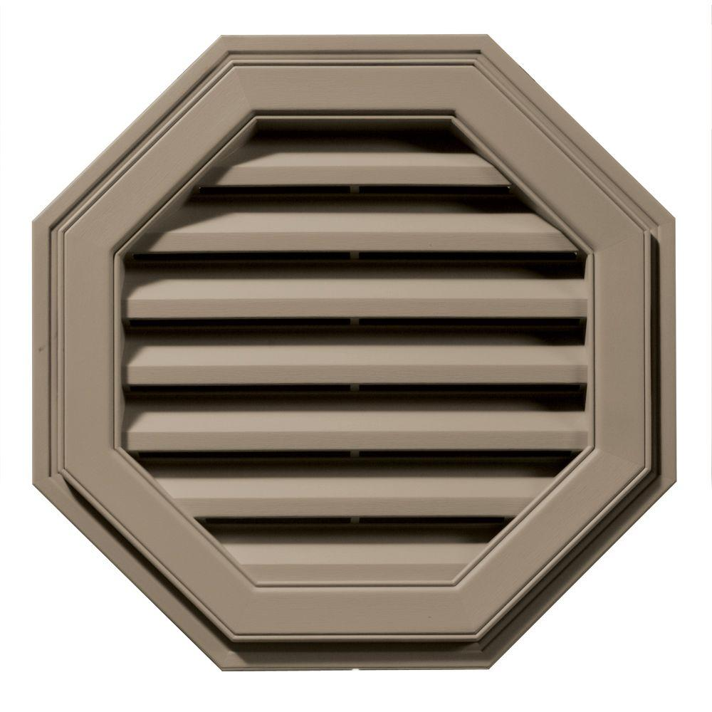 Builders Edge 22 in. Octagon Gable Vent in Clay-120012222095 - The