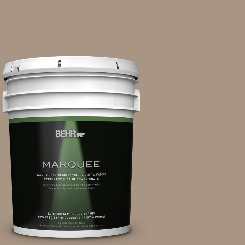 BEHR MARQUEE 5 gal. #T17-11 Silent Sands Semi-Gloss Enamel Exterior Paint-545405