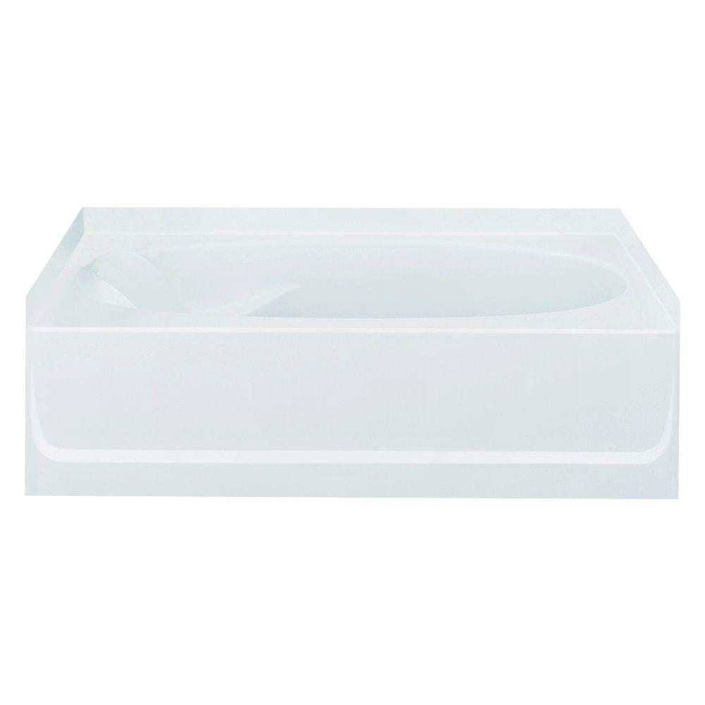 STERLING Ensemble 5 ft. Right Drain Soaking Tub in White-71101129-0 -