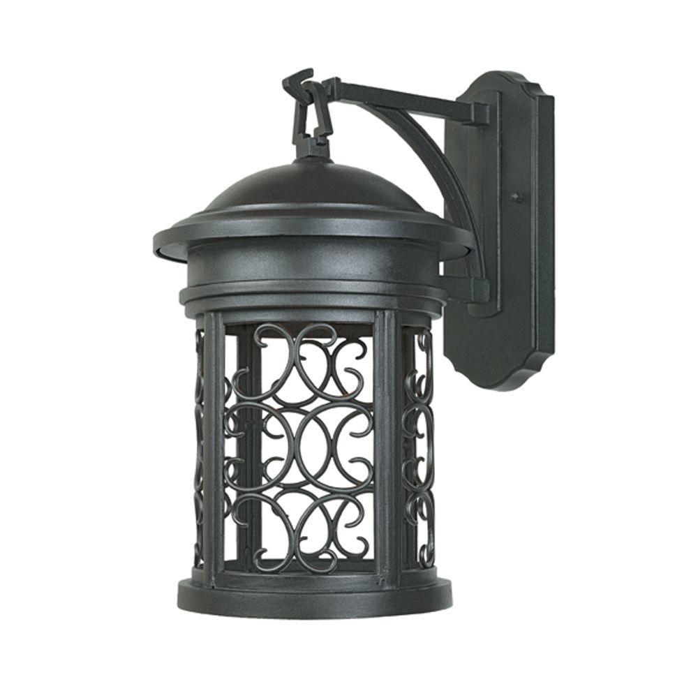 Hampton Bay Malford Dark Rubbed Bronze Outdoor Wall Mount Lantern 23082 The