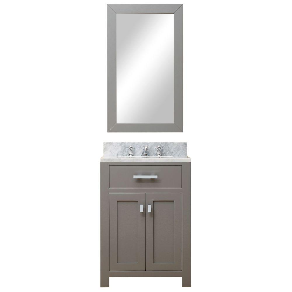 24 in. W x 21 in. D Vanity in Cashmere Grey