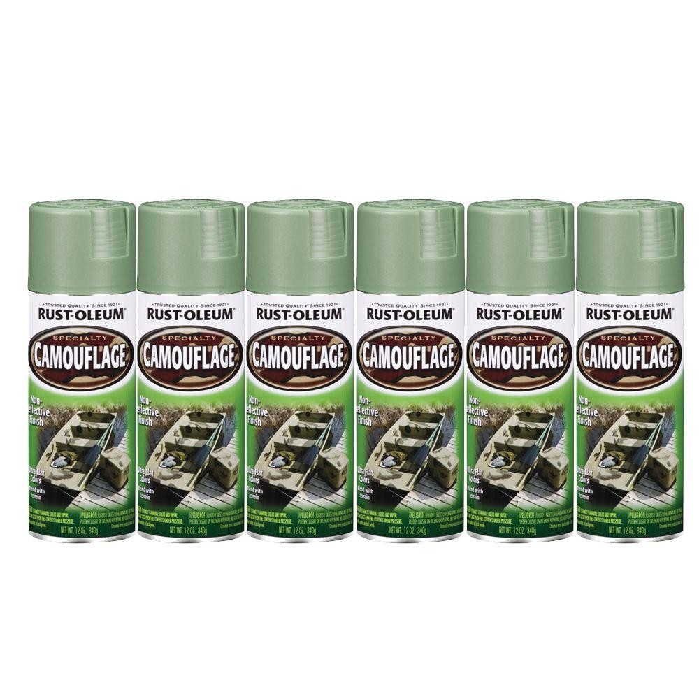 Rust-Oleum 12 oz. Specialty Camouflage Army Green Spray Paint (6-Pack)-DISCONTINUED