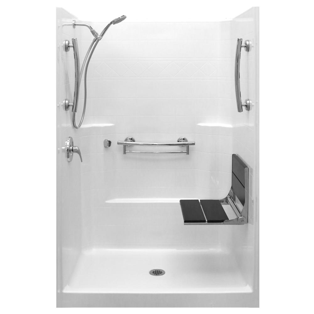 Imperial-SAFS 42 in. x 42 in. x 80 in. 1-Piece Low