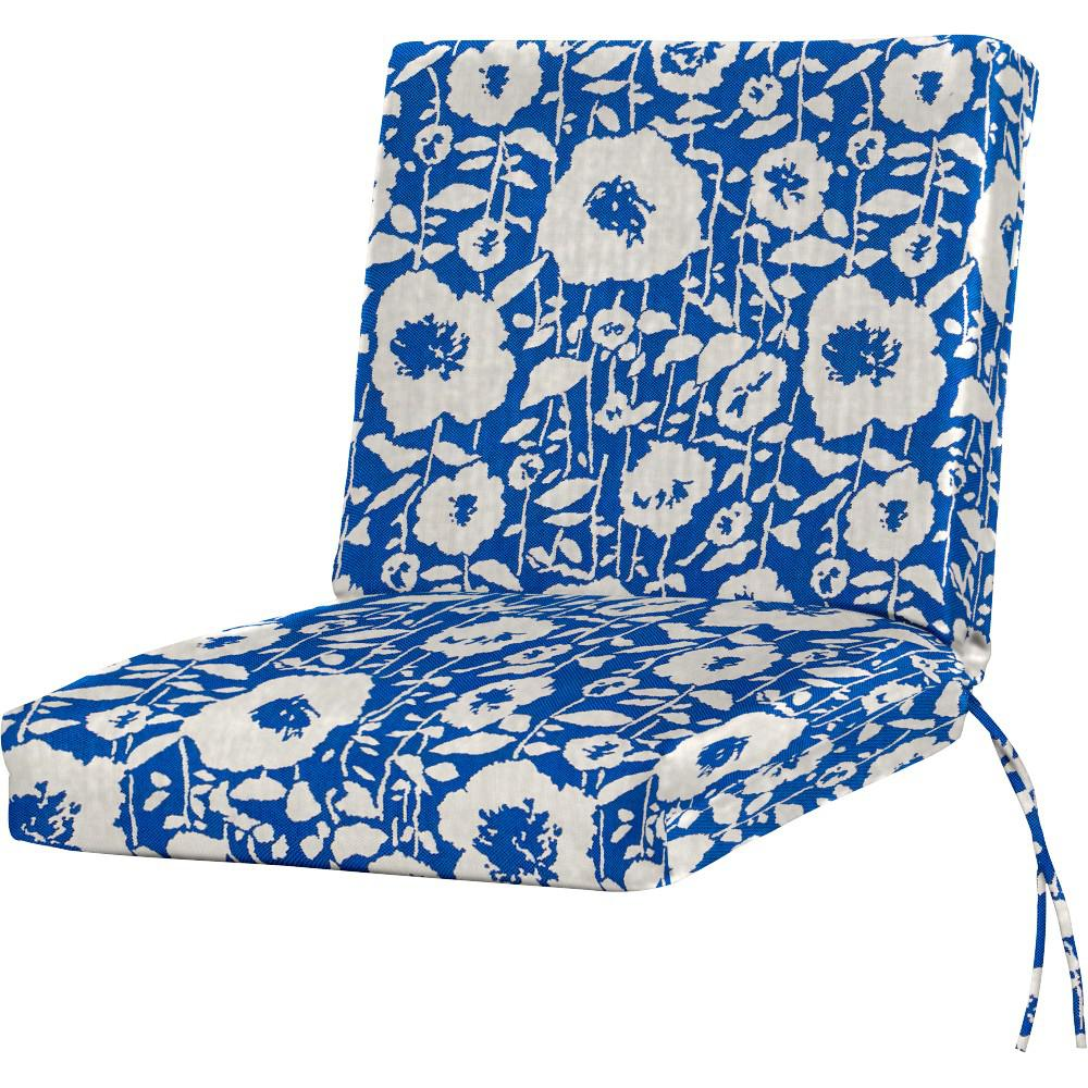 Sunbrella Andy Cobalt Outdoor Dining Chair Cushion