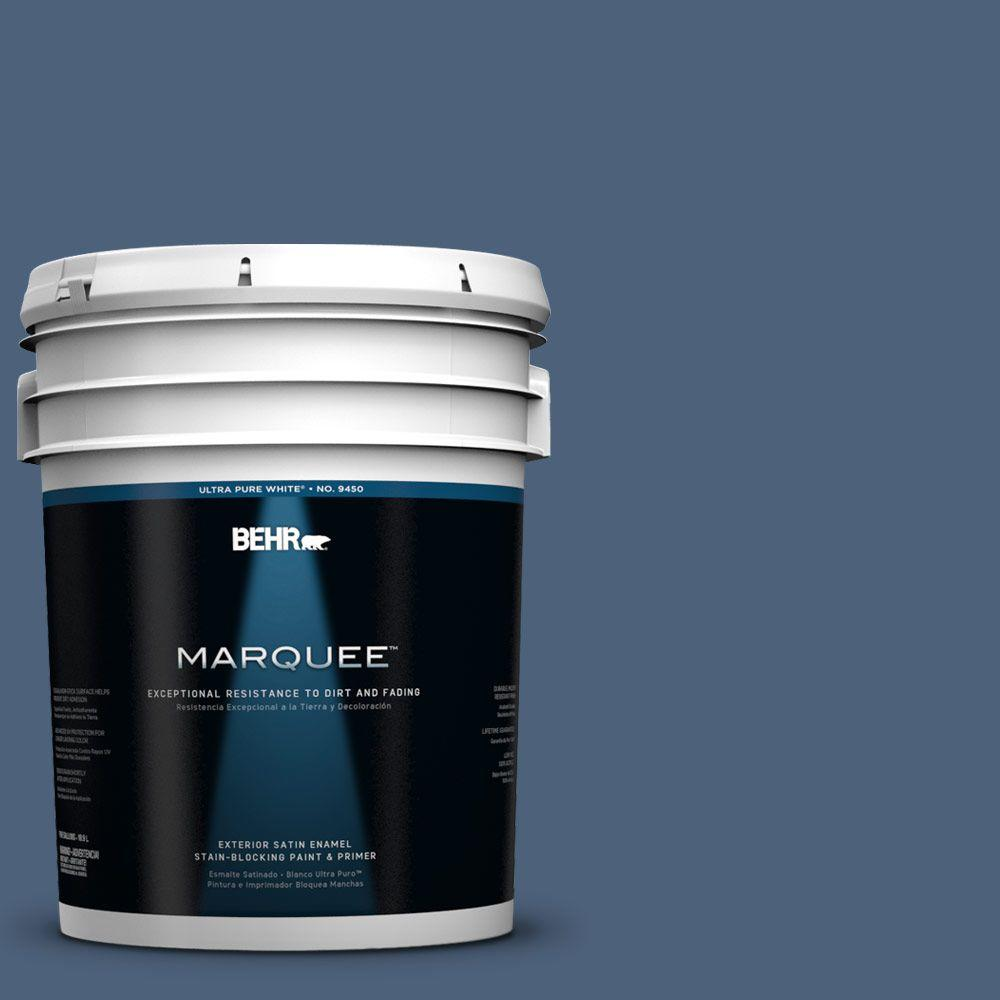 BEHR MARQUEE 5-gal. #590F-6 Mesmerize Satin Enamel Exterior Paint