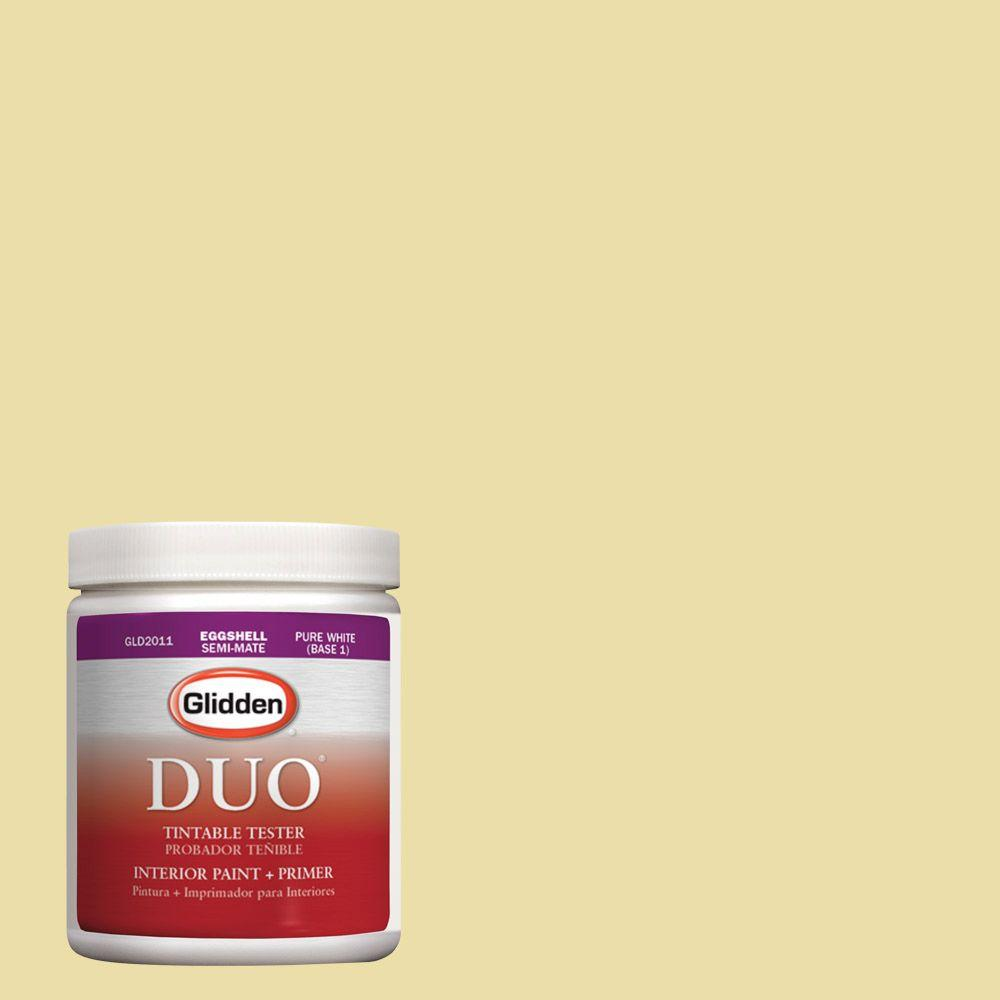 Glidden DUO 8 oz. #HDGY59 Candle Glow Latex Interior Paint Tester