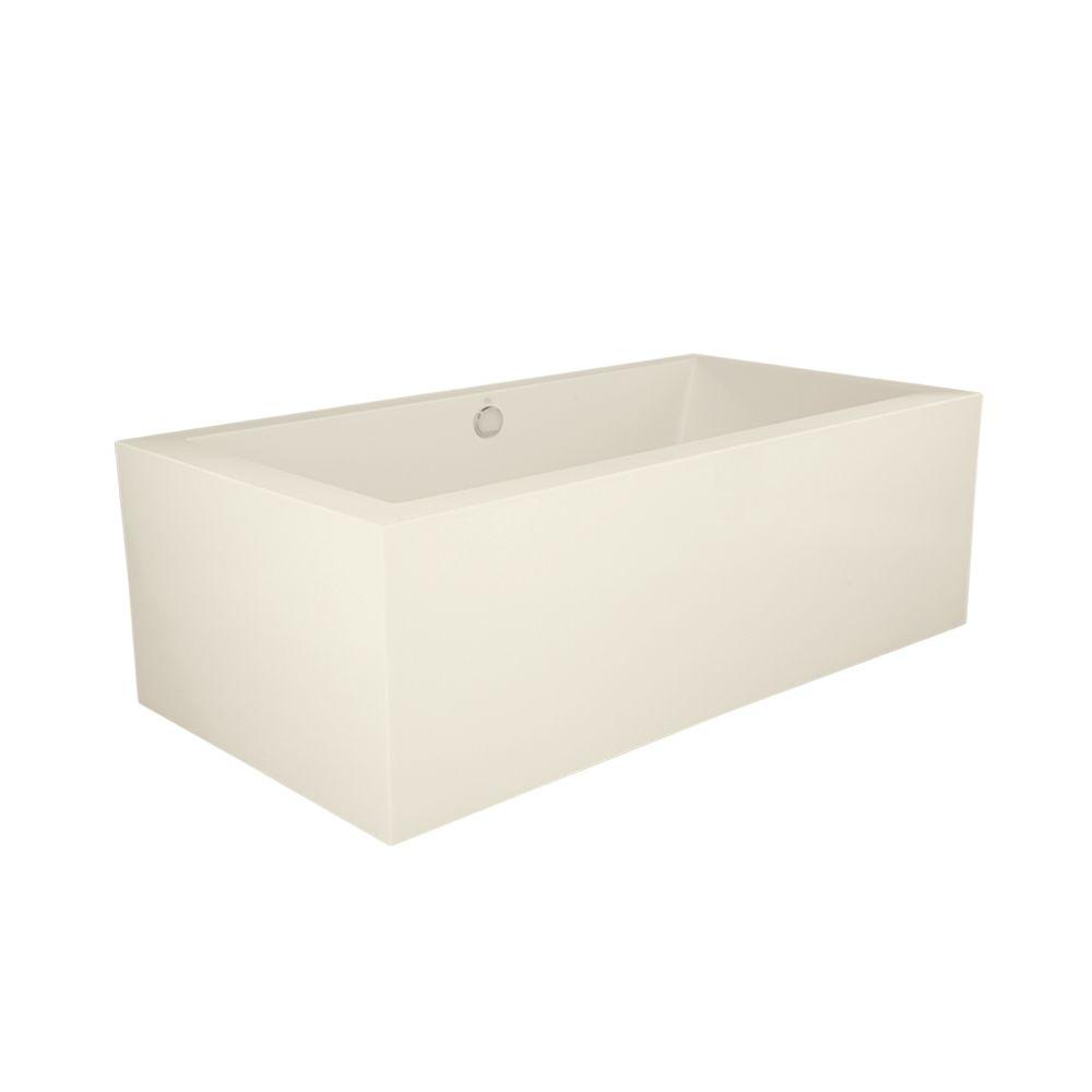 Hydro Systems Dover 6 ft. Freestanding Air Bath Tub in Biscuit