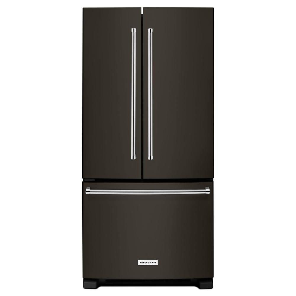 Beautiful KitchenAid 33 In. W 22.1 Cu. Ft. French Door Refrigerator In Stainless  Steel KRFF302ESS   The Home Depot