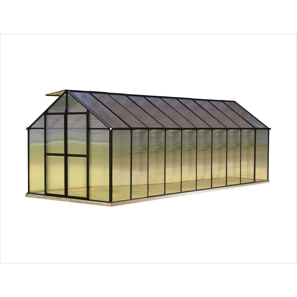 Monticello 8 ft. x 20 ft. Black Greenhouse