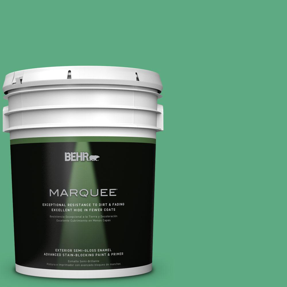 BEHR MARQUEE 5-gal. #T14-4 Edgewater Semi-Gloss Enamel Exterior Paint
