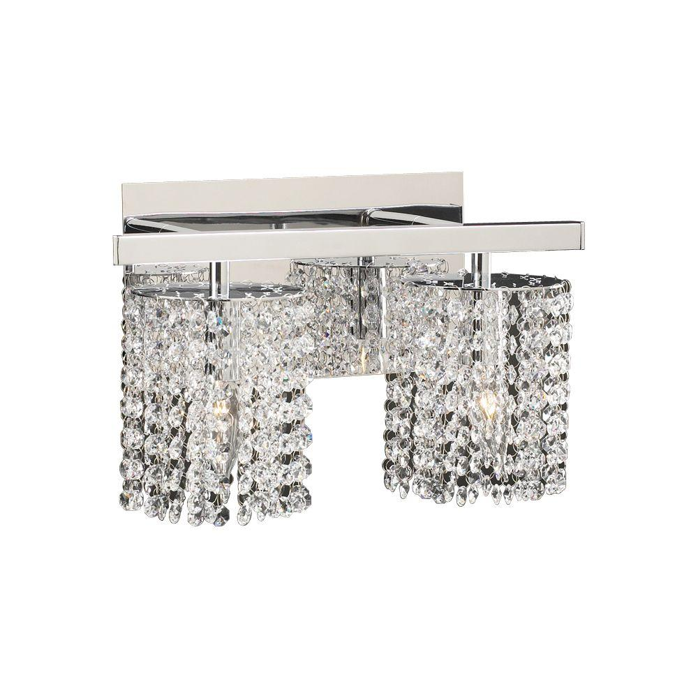 Vanity Lights With Clear Glass : PLC Lighting 2-Light Polished Chrome Bath Vanity Light with Clear Glass-CLI-HD72192PC - The Home ...