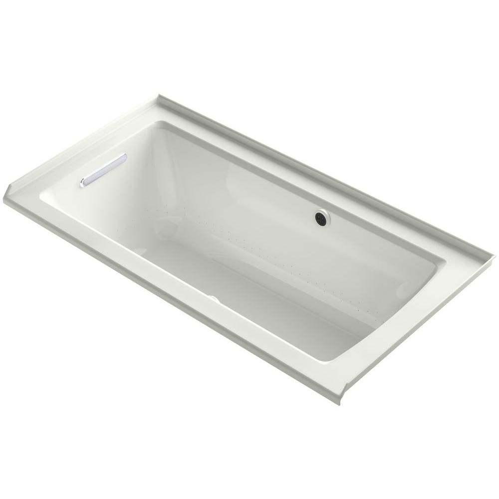 kohler archer 5 ft walk in whirlpool and air bath tub in dune k 1947