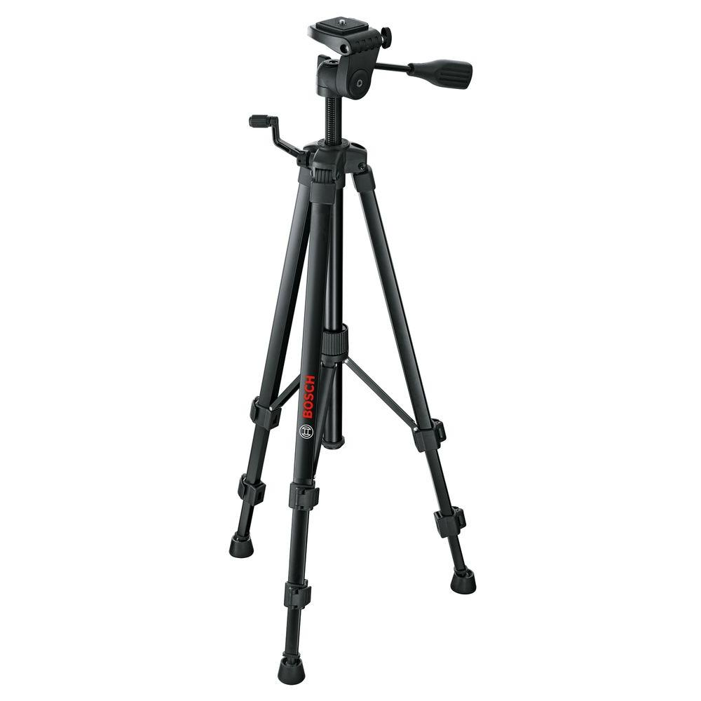 Bosch Compact Tripod with Extendable Height for Use with Bosch Line Lasers, Point Lasers, and Laser Measures