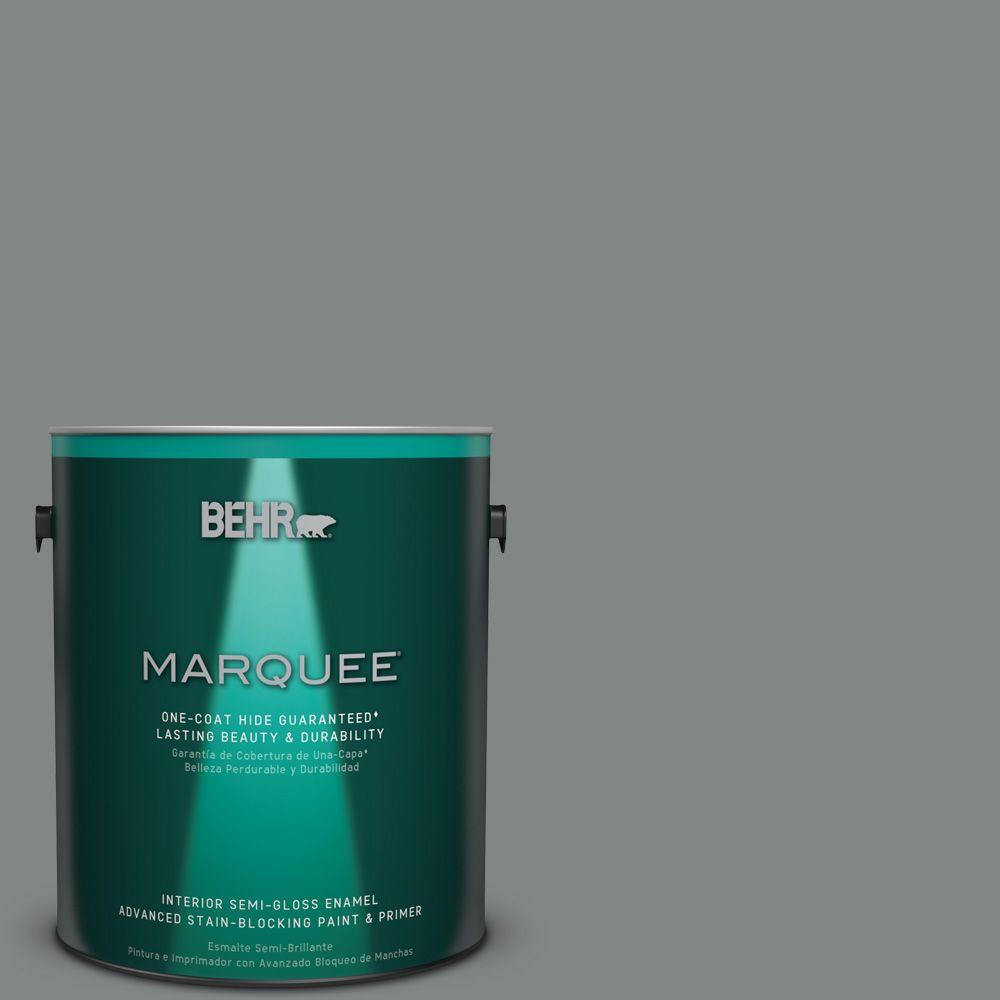 1 gal. #PPU25-17 Euro Gray Semi-Gloss Enamel Interior Paint