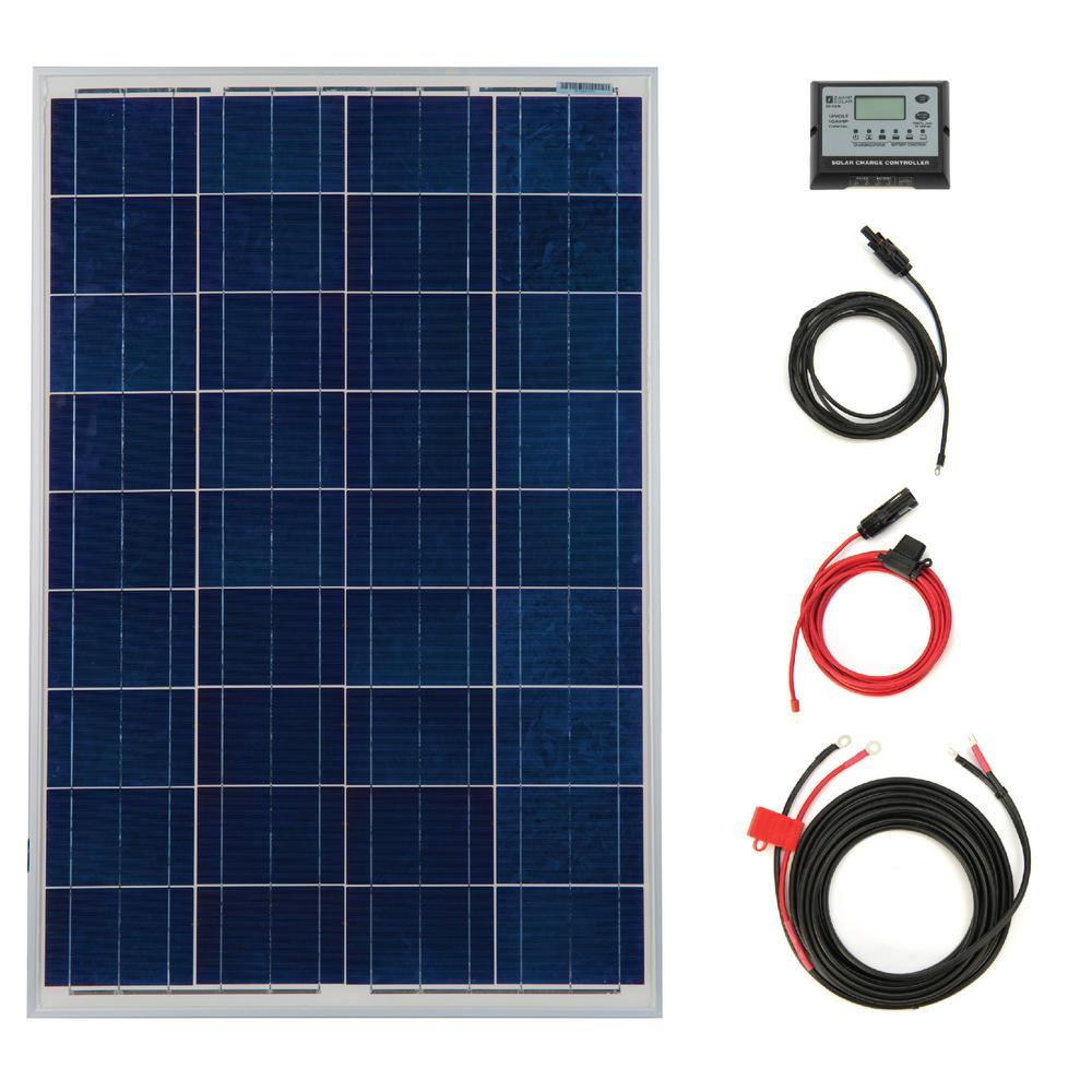 SolarDealz 100-Watt PV Off-Grid Solar Power Kit-SD-P10010A-KIT - The Home Depot
