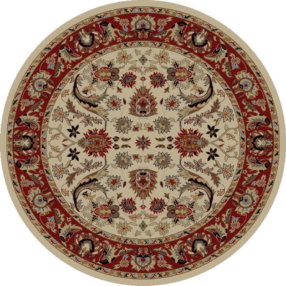 Concord Global Trading Ankara Sultanabad Ivory 5 ft. 3 in. Round Area Rug