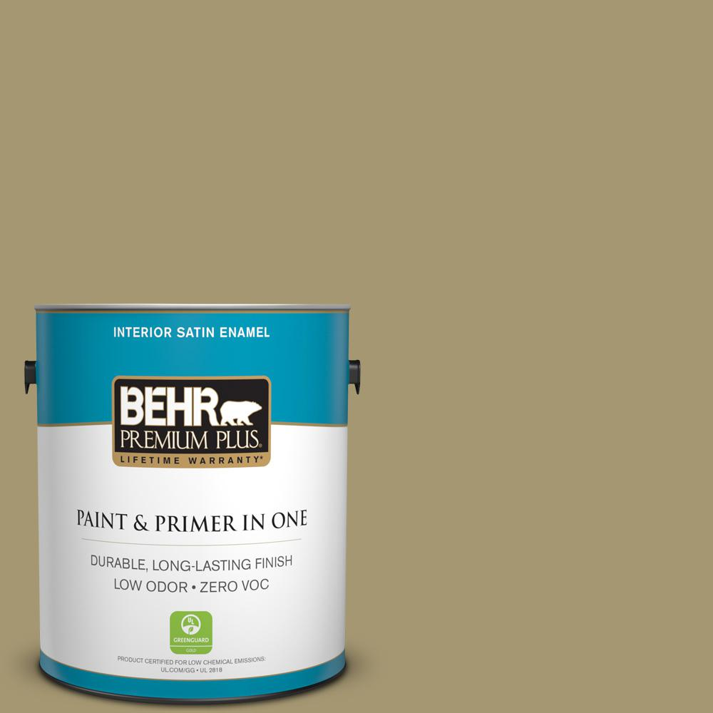 1-gal. #S330-5 Dried Chive Satin Enamel Interior Paint