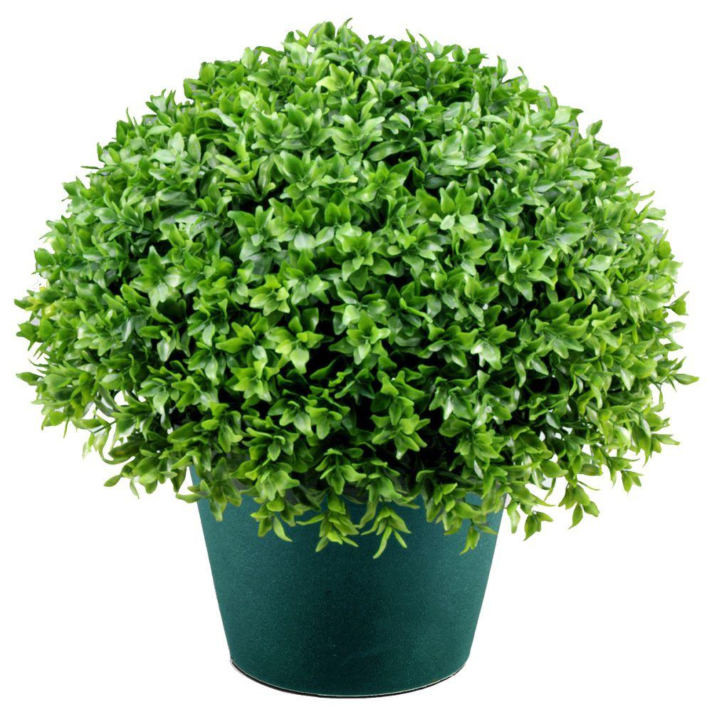 National Tree 13 in. Globe Artificial Japanese Holly Bush...