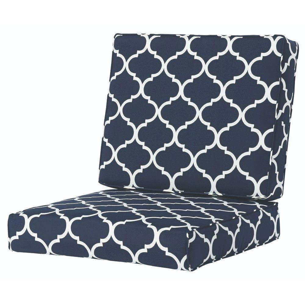 Home Decorators Collection Landview Navy Outdoor Lounge Chair Cushion 2286810