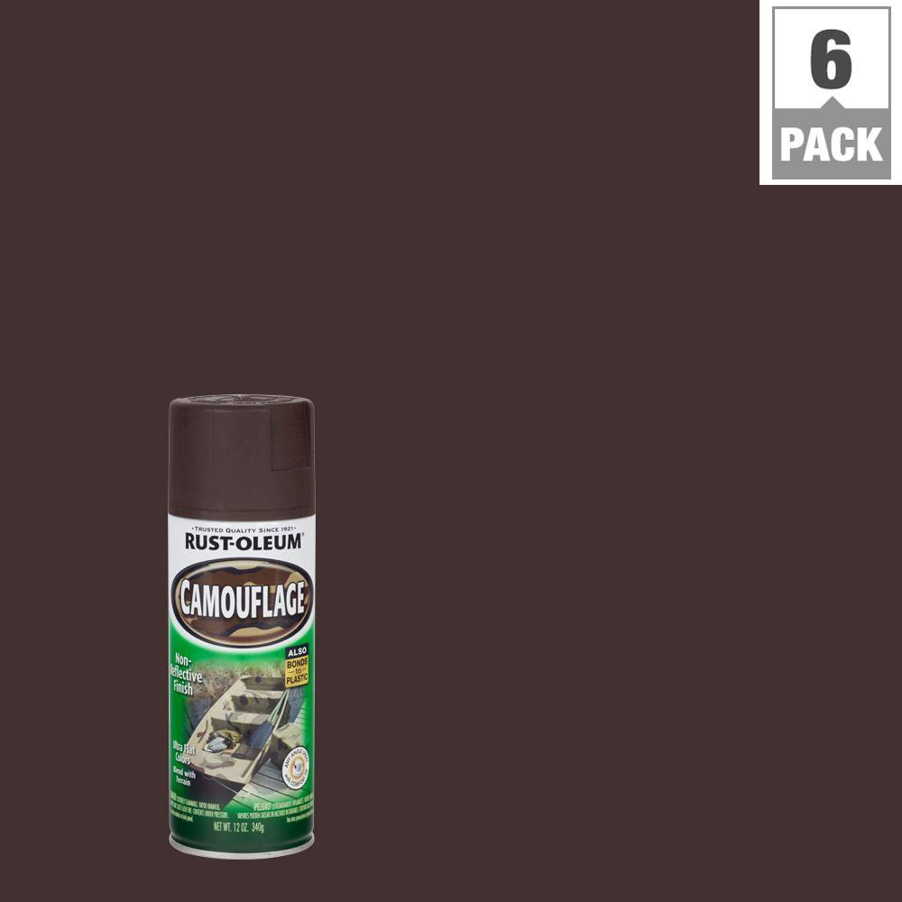 Rust-Oleum Specialty 12 oz. Earth Brown Camouflage Spray Paint (6-Pack)