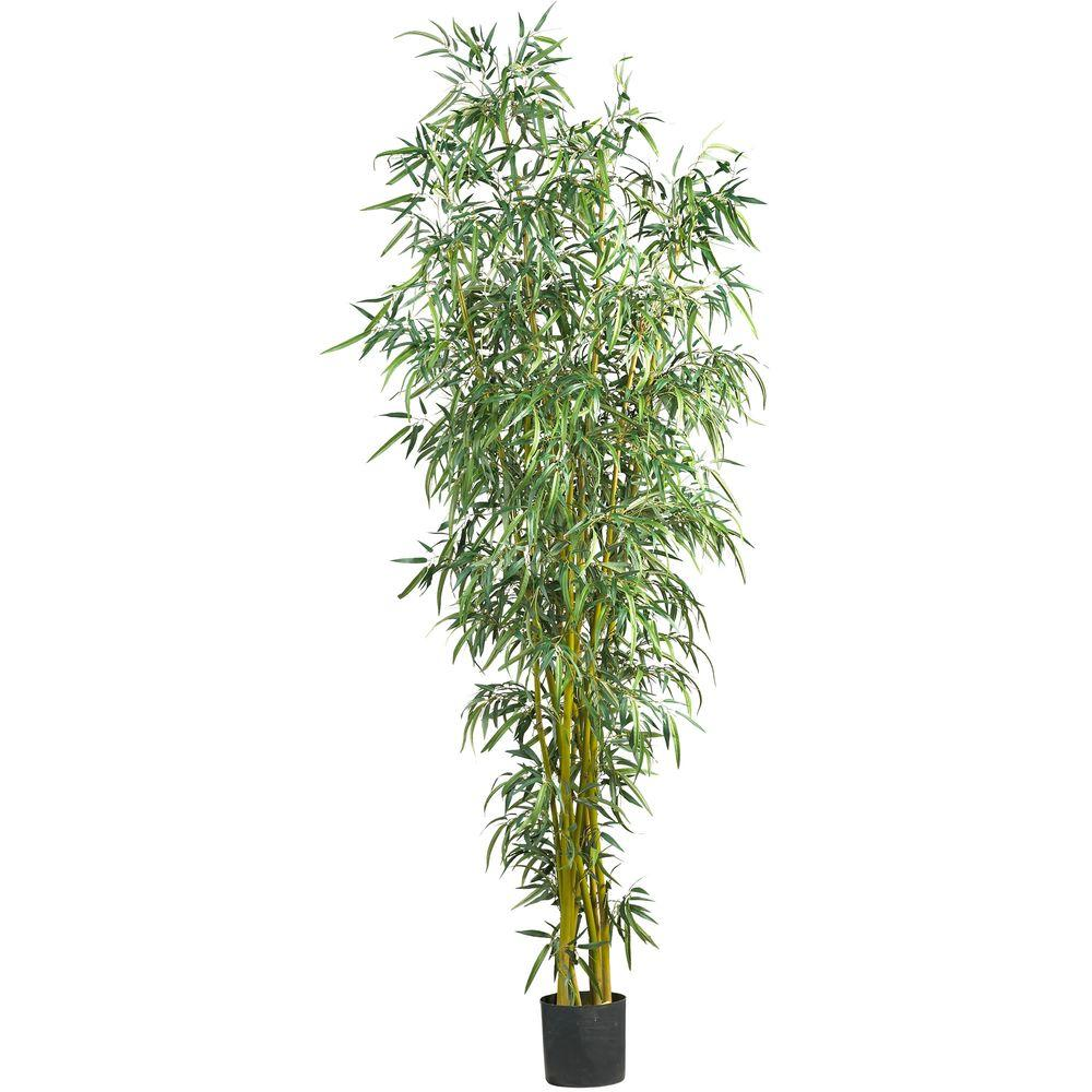 Nearly Natural 8 ft. Fancy Style Bamboo Silk Tree-5195 - The