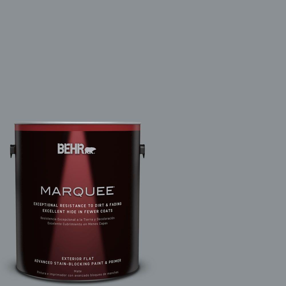 BEHR MARQUEE 1-gal. #MQ5-29 Gotham Gray Flat Exterior Paint-445401 - The