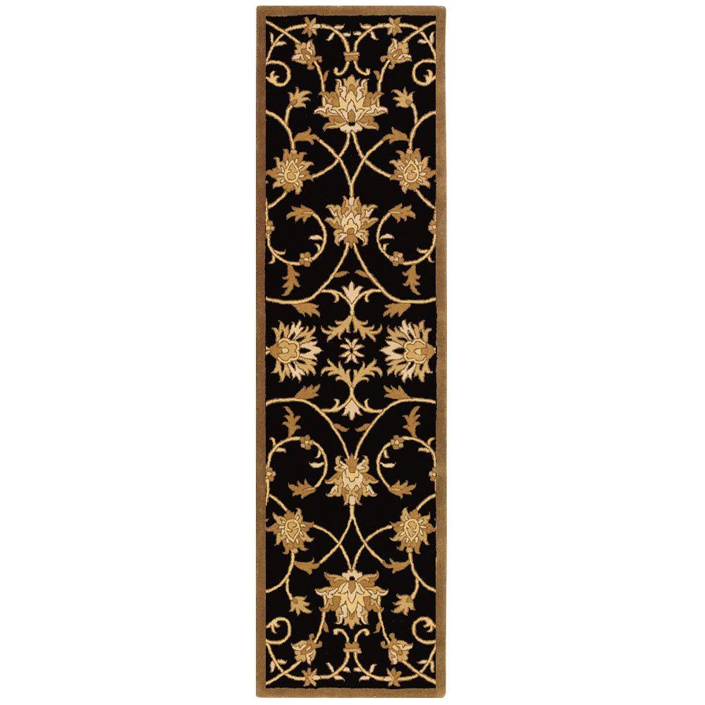 Rug Runner Gold: Home Decorators Collection Paloma Black/Gold 2 Ft. 3 In. X