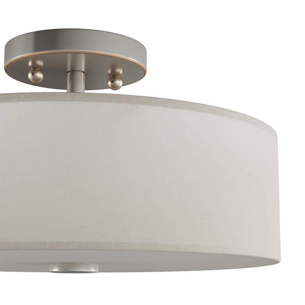 Flush mount light featuring all the necessary hanging hardware