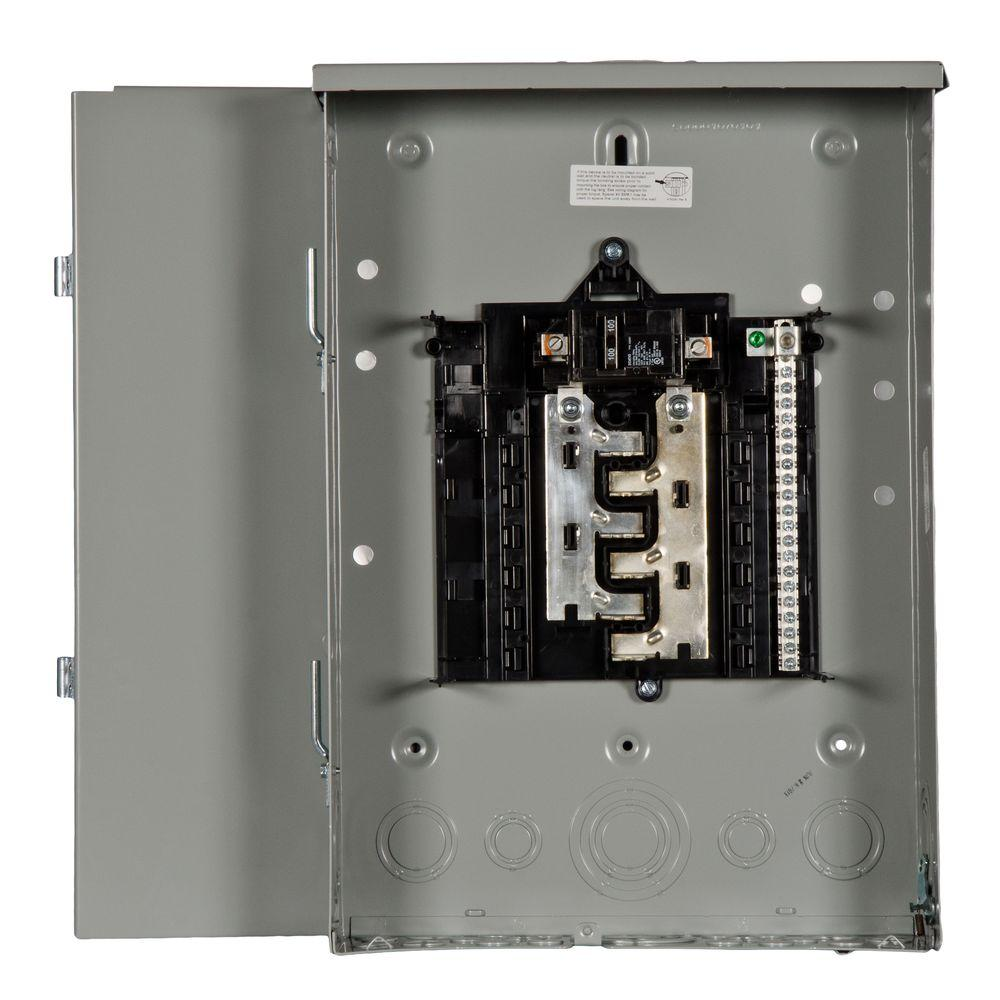 Main Breaker Load Centers: Siemens Electrical Supplies ES Series 100 Amp 12-Space 24-Circuit Main Breaker Outdoor Load Center SW1224B1100