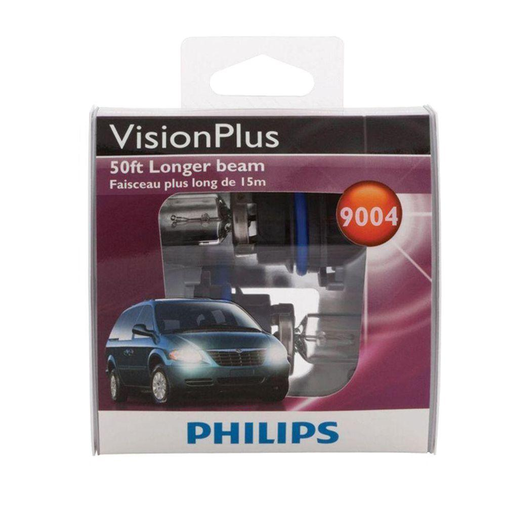 Philips Visionplus 9004 Headlight Bulb (2-Pack)