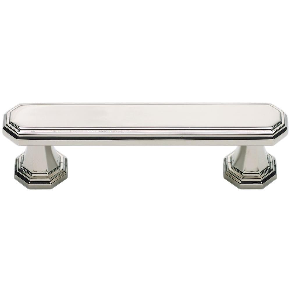 Atlas Homewares Dickinson Collection 4.2 in. Polished Nickel Pull