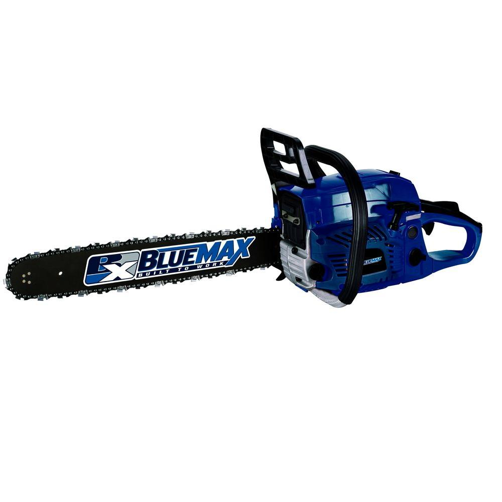 Blue Max 20 in. 52cc Gas Chainsaw-53543 - The Home Depot