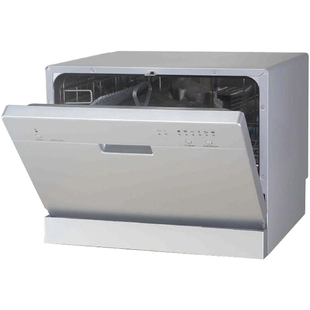 Countertop Dishwasher Sears : SPT Dishwashers Countertop Dishwasher in Silver with 6 Wash Cycles ...