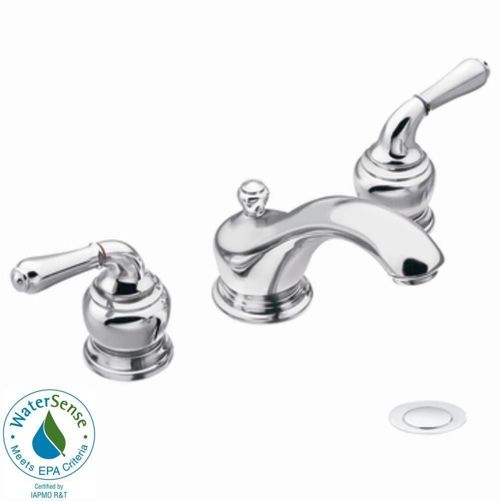 MOEN Monticello 8 in. Widespread 2-Handle Low-Arc Bathroom Faucet Trim Kit in Chrome (Valve Not Included)
