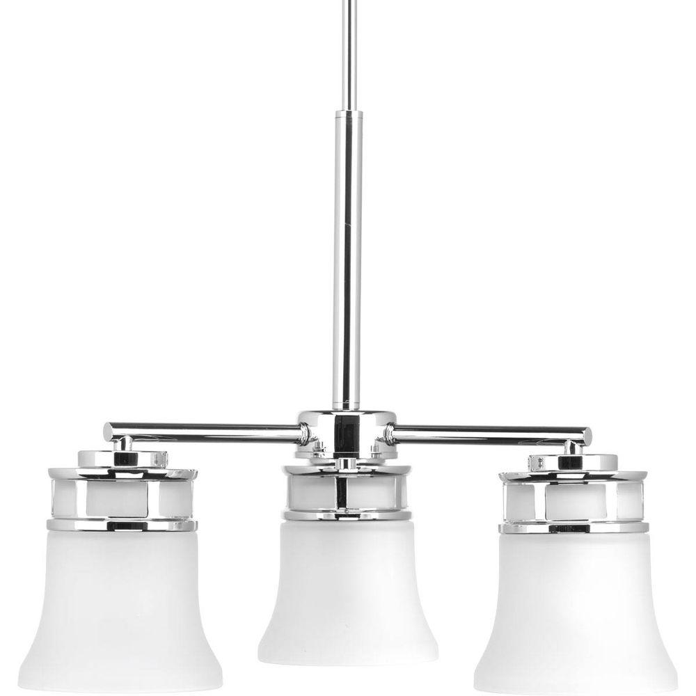 Cascadia Collection 3-Light Polished Chrome Chandelier