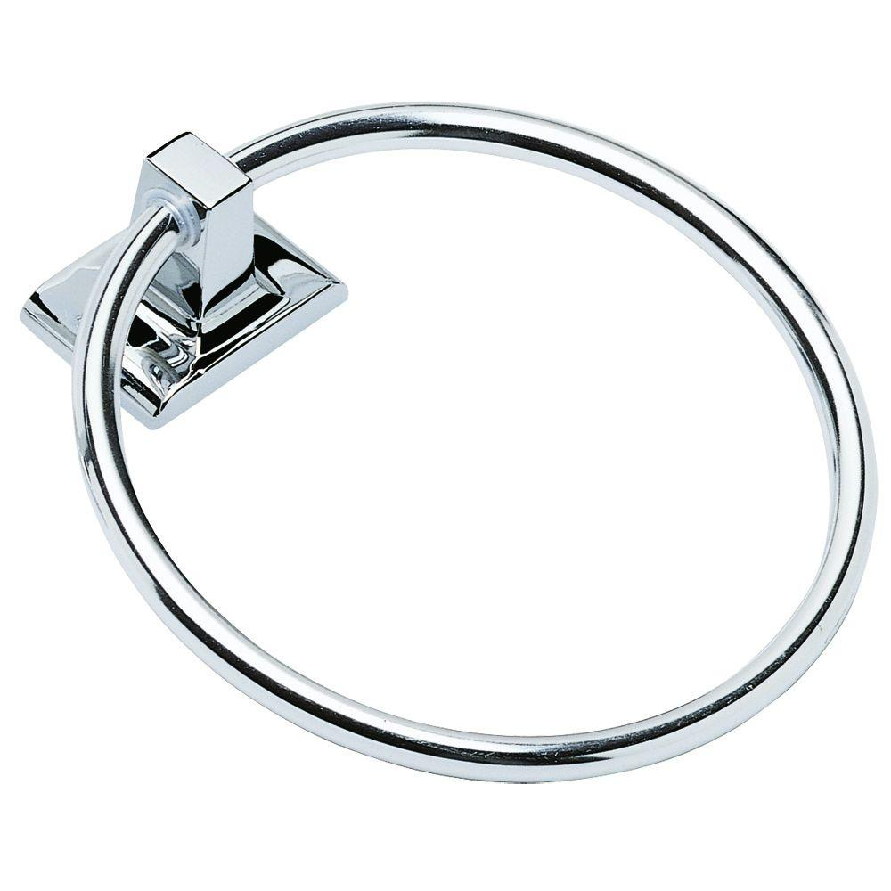 Design House Millbridge Towel Ring in Polished Chrome-533091 - The Home