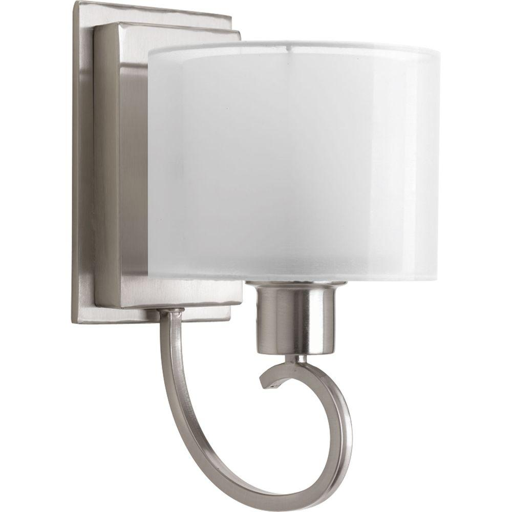 Progress Lighting Invite Collection 1-Light Brushed Nickel Wall Bracket