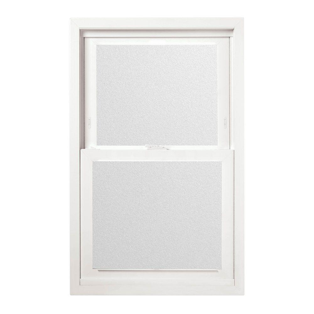 JELD-WEN 23.5 in. x 35.5 in. V-2500 Series Single Hung Vinyl Window with Obscure Glass - White