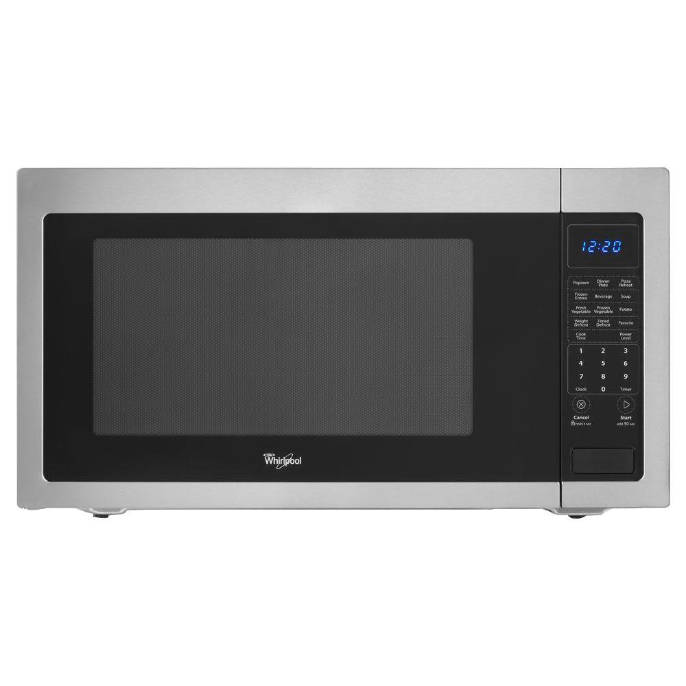Whirlpool 2.2 cu. ft. Countertop Microwave in Stainless Steel, Built-In Capable with Sensor Cooking