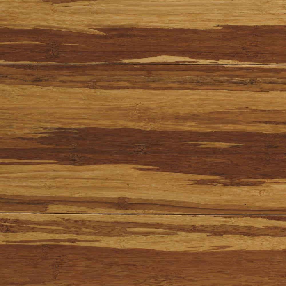 Strand Woven Natural Tigerstripe 3/8 in. x 5-1/8 in. Wide x 72 in. Length Click Lock Bamboo Flooring (25.75 sq.ft./case)