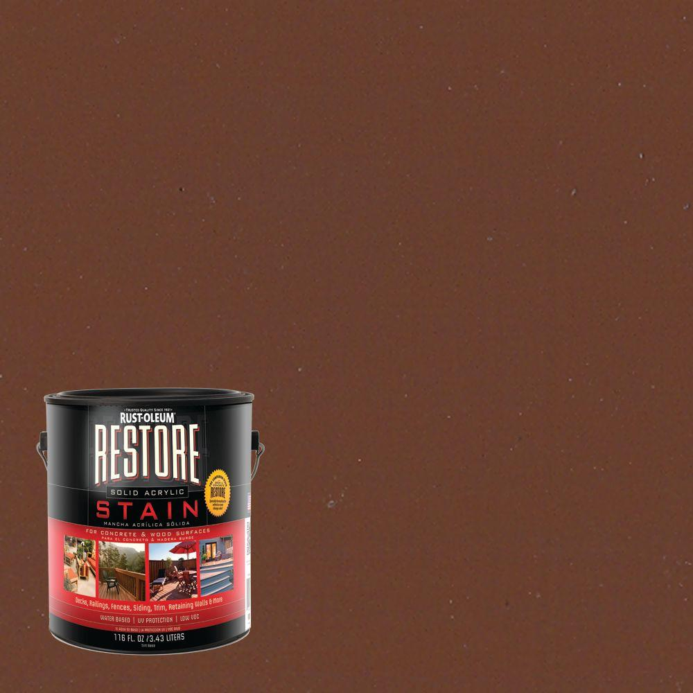 1 gal. Solid Acrylic Water Based Russet Exterior Stain