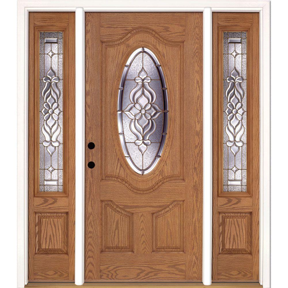 Feather River Doors 63.5 in. x 81.625 in. Lakewood Brass 3/4